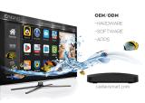 De la nueva generación del procesador rectángulo global Compatable del OS TV del androide 7.0 lo más tarde posible con el soporte de la población de Kodi TV Franch