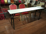 Furnierholz-oberster metallhaltiger Falz-rechteckiger Tisch-langer Tisch