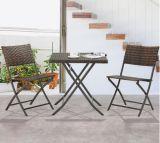 PET Rattan-Stuhl-hölzerner Plastikschreibtisch-gesetzte Rattan-Möbel