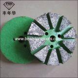 Metalldiamant-reibender Block mit Flausch