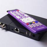 DVB S2/Isdbt 1700 HD IPTVアメリカスペインのラテン系の空が付いている人間の特徴をもつTVボックスはaを遊ばす