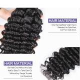 pacotes profundamente Curly malaios de cabelo humano do Weave Curly malaio do cabelo do Virgin 7A 3