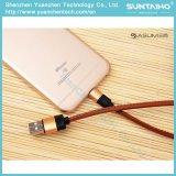 Cabo de couro cobrando rápido novo do USB para iPhone5 5s 6 6s 7