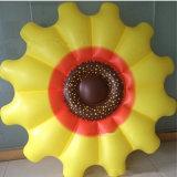Flutuador inflável do girassol da praia do PVC da associação da família do feriado