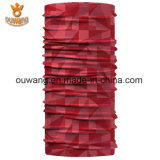 魔法の屋外ポリエステル管状のヘッドスカーフの赤はバンダナを遊ばす