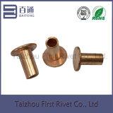 7-7 el cobre plateó el remache de acero semi tubular plano de la pista