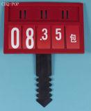 Suporte plástico do sinal do supermercado com frame L9