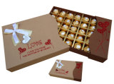 Rectángulo de papel de Kraft de la venta del chocolate caliente de la venta al por mayor