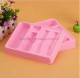 Plateau de empaquetage de flocage rose d'ampoule de produits de beauté