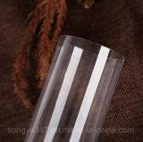 Emballage en plastique cylindrique transparent de PVC