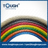 Corde tressée de treuil de fibre synthétique d'UHMWPE