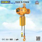 Brima a fixé le type élévateur à chaînes électrique de 1t avec le crochet