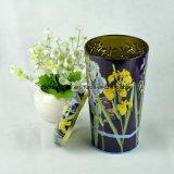 Изготовленный на заказ коробка олова формы вазы цветка для чая