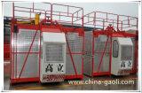 Fabricante/exportador da grua Sc200/200 da construção das gaiolas do dobro