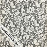 La hoja y el diseño de la tela del cordón de nylon de la flor