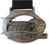 Kundenspezifische Medaille, 2D, weicher Decklack, antike Bronze für Turnier