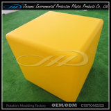 LLDPE Matériau Rotational Molding Plastic Modern Indoor LED Cube Chair