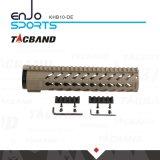 De Super Lichtgewicht Vrije Vlotter Keymod van Tacband 10 Aarde van het Spoor van het Spoor W/Picatinny van Handguard van de Duim de Hoogste Vlakke Donkere
