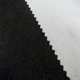 100%年のポリエステルトリコットは可融性に編まれたゆがみによって編まれた行間に書き込むことを編んだ