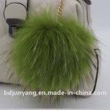2017 accessori caldi della catena chiave della lampadina dei capelli del Raccoon di stile