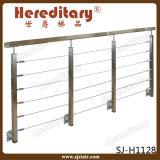 ステンレス鋼の手すりのステアケース(SJ-H5039)のための固体棒の柵の手すり