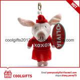 L'animal bourré mol fait sur commande promotionnel de porc de peluche joue le trousseau de clés, porte-clés