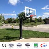 Cerchio nero esterno del basamento di pallacanestro del piano di sostegno sotterraneo di vetro Tempered