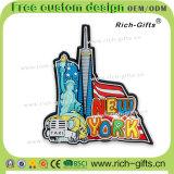 Ricordo promozionale personalizzato New York (RC- Stati Uniti) dei magneti del frigorifero del PVC della decorazione dei regali