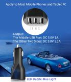 Carregador feito sob encomenda à moda excelente quente do carro do USB das portas do logotipo 3 dos produtos novos