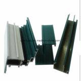 Profils d'aluminium à rupture thermique en couleur foncée pour fenêtre et porte en aluminium