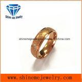 Het elegante Zand van het Broodje van Juwelen op de Ring van Rosegold van de Oppervlakte