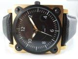 ODM Van de Bedrijfs riem van het Horloge van het leer van de Mens Horloge