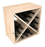Cubo do vinho do pinho do estojo compato da cremalheira do vinho da alta qualidade