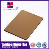 El panel material al por mayor de la construcción de edificios del papel de aluminio de Alucoworld ACP