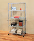 5 Tier Wire Storage rack estante para organização com pés de nivelamento ajustáveis 275 Lbs Peso Capacidade