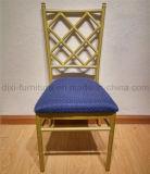 Стул Chiavari Тиффани венчания алюминиевый с фикчированной задней частью подушки сиденья и креста