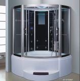 sauna del vapore del nero del settore di 1500mm con la Jacuzzi e Tvdvd (AT-GT0907)