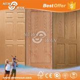 Белая дверь праймера HDF, деревянная кожа двери Teak Veneer зола отлитая в форму
