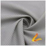 agua de 30d 320t y de la ropa de deportes tela rayada tejida chaqueta al aire libre Viento-Resistente 100% de la pongis del poliester del telar jacquar de la tela escocesa abajo (J059F)