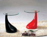 현대 물 하락 잎 유리 테이블