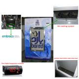 Escaninho de armazenamento de vidro do gelo do indicador da porta