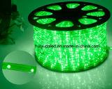 LEDロープライトまたは屋外Light/LEDの滑走路端燈またはネオンライトまたはクリスマスの照明または休日のライトまたはホテルライトか棒軽い円形2ワイヤー緑色25LEDs 1.6W/M LEDのストリップ