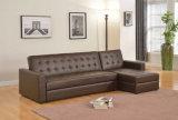 Populäre moderne Hauptmöbel-kleines Eckgewebe-Sofa-Bett (HC302)