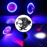CREE U7 15W 30W toutes les couleurs dans le phare courant de moto de la lentille 1500lm 6500k 12VDC de projet