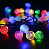 50PCS Bubble Ball Solar Powered LED Chaîne de Noël Light colorée imperméable à l'eau pour la fête Party Party Wedding Garden Decoration