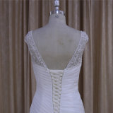 Wulstiges Applique-Fleck-Hochzeits-Kleid