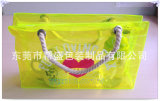 Kleurrijke Nylon het Winkelen van de Zak van de Hand van pvc Zak met Zuiver Katoenen Handvat (yj-E018)
