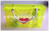 Цветастая хозяйственная сумка мешка руки PVC нейлона с чисто ручкой хлопка (YJ-E018)