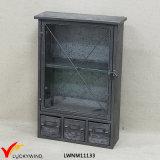 Cabina de almacenaje industrial del metal de la vendimia