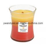 Glass Jar romántica velas de la soja para la decoración